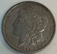 1894 MORGAN SILVER DOLLAR UNCERTIFIED WITH EXTRA FINE  DETAILS. HARD TO FIND@