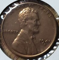 1941 S LINCOLN WHEAT CENT  MS MINT STATE GRADED FAIRLY BU UNC UNCIRCULATED