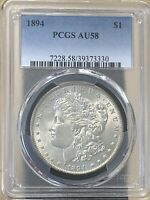 1894 P MORGAN SILVER DOLLAR KEY DATE PCGS AU58  NO PROBLEM COIN - LOOKS MS