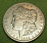 A111,KEY DATE 1893 P HIGH GRADE SILVER MORGAN DOLLAR