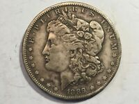 1889O VF MORGAN SILVER DOLLAR DATE FROM ALBUM COLLECTION M12