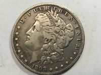 1893-O EXTRA FINE  MORGAN SILVER DOLLAR DATE FROM ALBUM RIM BUMP COLLECTION M12