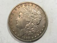 1893-O EXTRA FINE  MORGAN SILVER DOLLAR DATE FROM ALBUM COLLECTION M12
