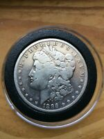 1896-S MORGAN VAM 4 NEAR DATE SILVER VARIETY R3 ONE DOLLAR COIN