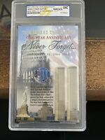 2001 UNC COLORIZED NEW YORK U.S. STATE QUARTER ON WTC CARD I