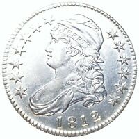 1812 CAPPED BUST HALF DOLLAR HIGH GRADE. UNC SILVER OR2