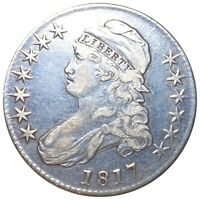 1817 CAPPED BUST HALF DOLLAR CHOICE GRADE. SILVER OR3