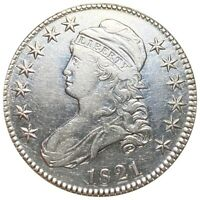 1821 CAPPED BUST SILVER HALF DOLLAR CHECK VARIETY 326