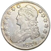 1830 CAPPED BUST SILVER HALF DOLLAR  290