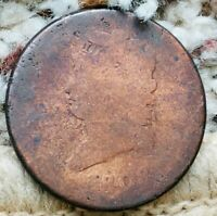 1808 CLASSIC HEAD LARGE CENT-AG CONDITION-CLEANED