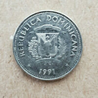 DOMINICAN REPUBLIC 1991 25 CENTS KM71