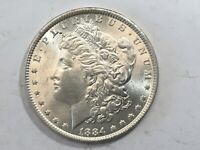 1884-P PL MORGAN SILVER DOLLAR DATE UNC FROM ALBUM COLLECTION MS CONDITION M13