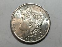 1881-S PL MORGAN SILVER DOLLAR DATE UNC FROM ALBUM COLLECTION MS CONDITION M13