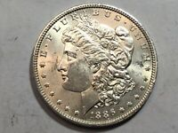 1886-P PL MORGAN SILVER DOLLAR DATE UNC FROM ALBUM COLLECTION MS CONDITION M13