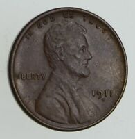 1911-S LINCOLN WHEAT CENT - SHARP 0449