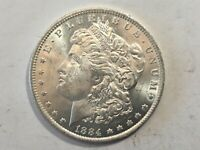 1884-O PL MORGAN SILVER DOLLAR DATE UNC FROM ALBUM COLLECTION MS CONDITION M14