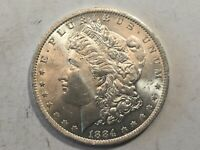 1884-O MORGAN SILVER DOLLAR DATE UNC FROM ALBUM COLLECTION MS CONDITION M14