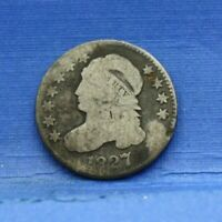 1827 CAPPED BUST DIME SILVER ALMOST GOOD AG
