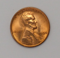 COIN - LINCOLN CENT WHEAT REVERSE REGULAR STRIKE - 1954-S 1C RED UNCIRCULATED