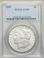 1899 P PCGS AU50 MORGAN SILVER DOLLAR LOW MINTAGE DATE ONLY 330,000 ABOUT UNCIRC