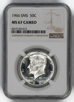 1966 SMS KENNEDY HALF DOLLAR 50C NGC MINT STATE 67 MINT STATE UNCIRCULATED - CAMEO 012