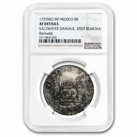 1737 MO-MF MEXICO AR 8 REALES EXTRA FINE  DETAILS NGC ROOSWIJK SHIPWRECK - SKU213129