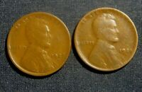 1922 D & 1924 D LINCOLN WHEAT CENT LOT OF 2 SEMI KEY DATES YOU GRADE