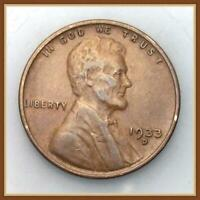 1933 D LINCOLN WHEAT CENT VF-EF