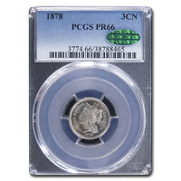 1878 THREE CENT NICKEL PR-66 PCGS CAC - SKU181197