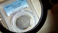 1825 CAPPED BUST QUARTER PCGS VF 25