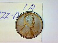 1922 D LINCOLN WHEAT CENT LOT 1A