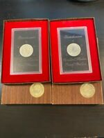 1974 S EISENHOWER DOLLAR BROWN BOX PROOF BROWN IKE SILVER DW