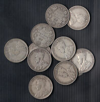 1911 36  CANADA SILVER 50 CENTS   LOT OF 12