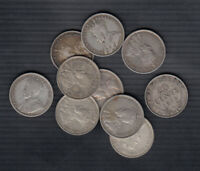 1904 19  CANADA SILVER 20 & 25 CENTS   LOT OF 10