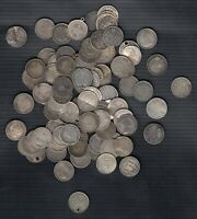 1858 1947  CANADA & NEWFOUNDLAND SILVER 5 CENTS   LOT OF 10