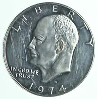 SPECIALLY MINTED S MINT MARK 1974 S 40  EISENHOWER SILVER DO