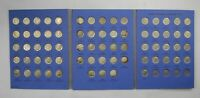 69 ROOSEVELT DIMES SILVER US COIN SET COLLECTION LOT ALBUM