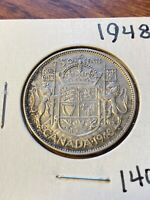1948 CANADA 50 CENTS  DATE