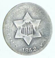 1852 SILVER THREE CENT PIECE   TRIME   CHARLES COIN COLLECTI