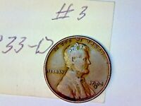 1933 D LINCOLN WHEAT CENT LOT 3