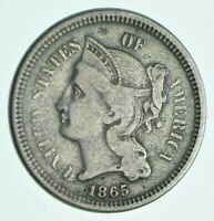 1865 NICKEL THREE CENT PIECE   CHARLES COIN COLLECTION  472