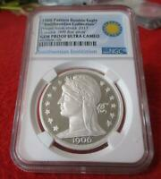 1906 PATTERN DOUBLE EAGLE 1OZ SILVER   PRIVATE ISSUE  NGC GE