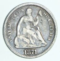 1871 SEATED LIBERTY HALF DIME   CHARLES COIN COLLECTION  463