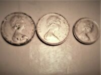 BERMUDA COINS 2 5 CENTS 1980 AND 1984 1 10 CENTS 1983 LIGHTL