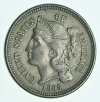 1865 NICKEL THREE CENT PIECE   CHARLES COIN COLLECTION  479