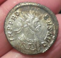 EXTRA FINE & GREAT BRIGHT SILVERING  PROBUS SILVERED  ANTONINIANUS ROME AD 281