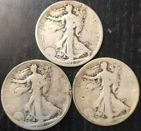 1919 WALKING LIBERTY HALF DOLLAR PDS SET