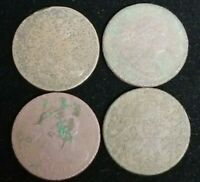 DRAPED BUST HALF CENT LOT  4  COINS