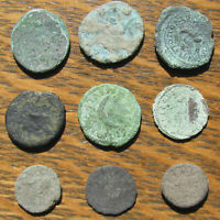 NINE ROMAN IMPERIAL AND PROVINCIAL BRONZE COINS