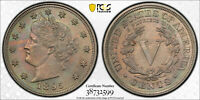 1895-P LIBERTY NICKEL V-NICKEL 5C PCGS MINT STATE 64
